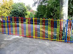 Colour bow-top railings