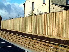 Acoustic wood fence