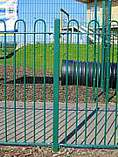 1500mm green powder coated bow top railings
